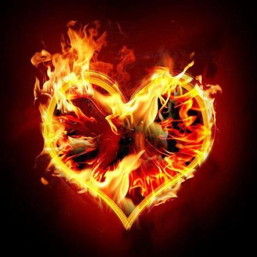 brinnande hjärta