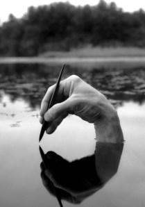 skriva i vatten